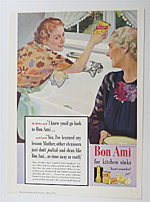 1937 Bon Ami Powder with Woman Cleaning Her Sink (Image1)