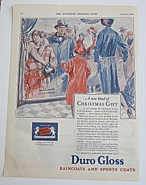 1927 Duro Gloss Raincoats With Family