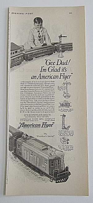 1926 American Flyer With Boy Playing With Train