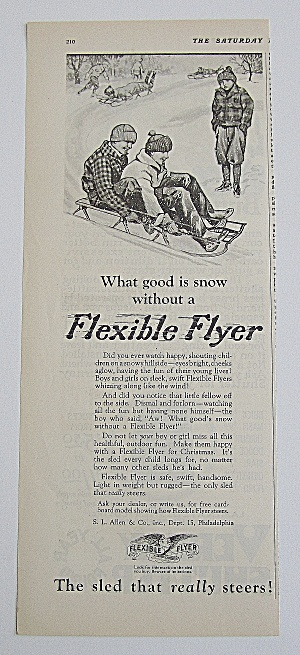 1926 American Flyer With Group Of Boys On Sled