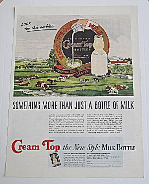 1940 Cream Top With Cows In The Pasture (Image1)