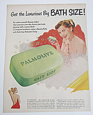 1950 Palmolive Soap With Woman Bathing