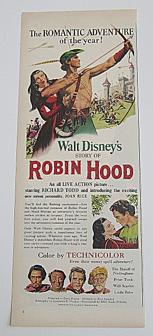 1952 Walt Disney's Robin Hood With Richard Todd (Image1)