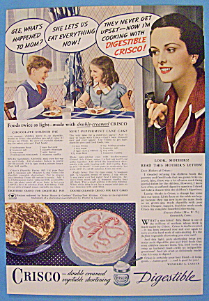 1937 Crisco Shortening With Children Having Cake