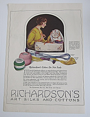 1922 Richardson's Silks & Cottons With Woman