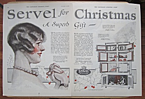 1925 Servel Appliances With Lovely Woman Smiling
