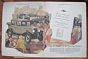 1929 Chevrolet With Many Differnet Chevys