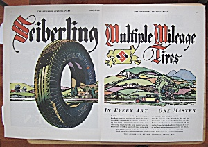 1929 Seiberling Tires With Multiple Mileage Tire