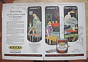 1928 Rogers Brushing Lacquer With Its Many Uses