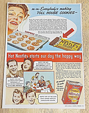 1941 Nestle's With Toll House Cookies & Instant Cocoa (Image1)