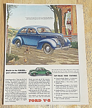 1939 Ford With The Ford V8 Tudor Sedan