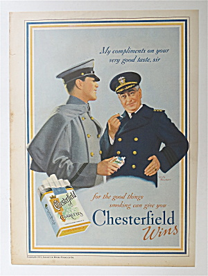1937 Chesterfield Cigarettes with Two Soldiers (Image1)