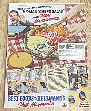 1940 Hellmann's With The Chef's Salad