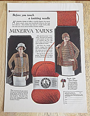 1922 Minerva Yarns With Women Weaving Sweaters