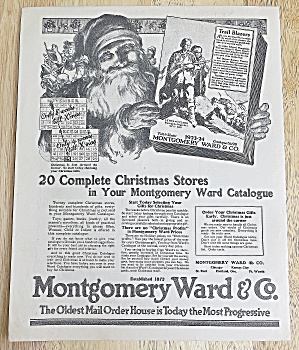 1923 Montgomery Ward & Co. With Santa & Catalog