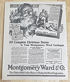 1923 Montgomery Ward & Co. With Santa & Catalog (Image1)