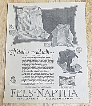1923 Fels-naptha Soap With If Clothes Could Talk