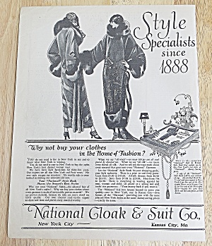1923 National Cloak & Suit Co. With 2 Women In Fashion