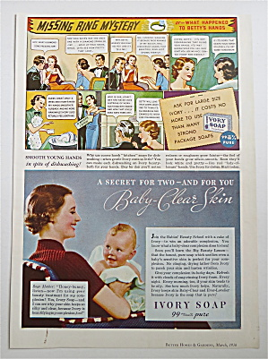 1936 Ivory Soap w/ Cartoon Called Missing Ring Mystery (Image1)