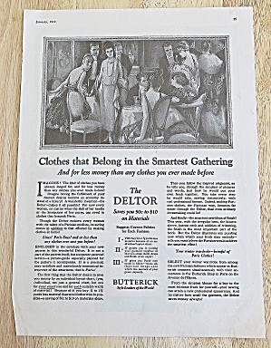 1922 Butterick With The Deltor