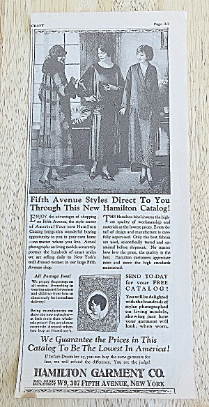 1924 Hamilton Garment With Fifth Avenue Styles