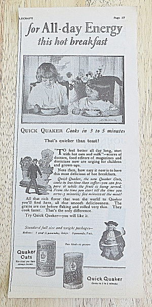 1924 Quick Quaker Oats With Kids Eating (Image1)