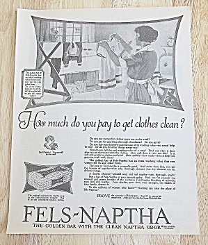1924 Fels-Naptha Soap With Woman Doing Laundry (Image1)