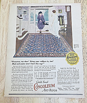 1924 Congoleum Rugs With Women Looking At Rug