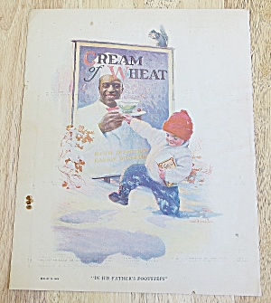 1924 Cream Of Wheat With Boy Walking In The Snow