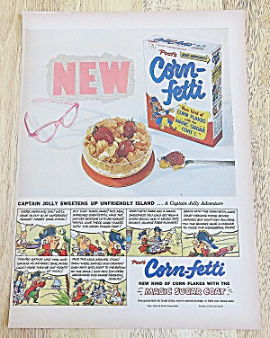 1953 Post's Corn Fetti With Captain Jolly Sweetens