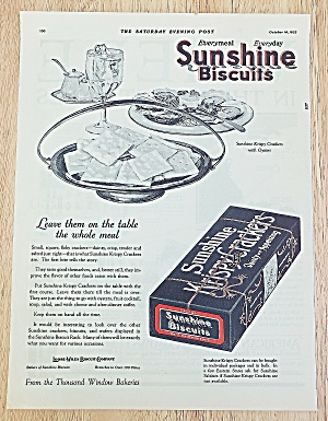 1922 Sunshine Biscuits With Oysters