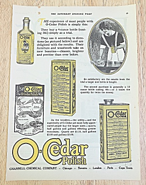 1922 O-cedar Polish With Woman Cleaning