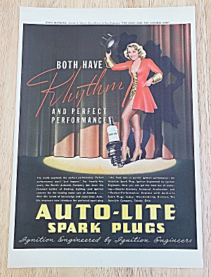 1937 Auto Lite Spark Plugs With Joan Blondell (Image1)