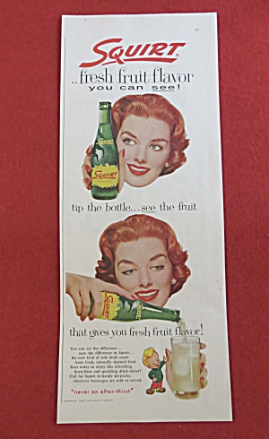 1958 Squirt With Woman Pouring A Bottle