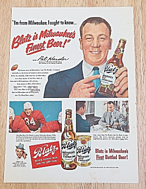1949 Blatz Beer With Pat Harder (Image1)