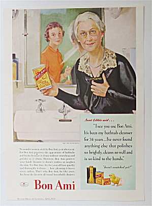 1936 Bon Ami Powder with a Woman Holding a Can (Image1)