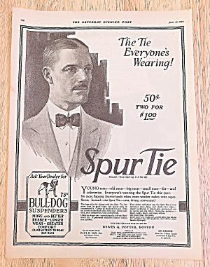 1922 Spur Tie With Young Man