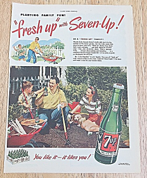 1949 7up With Family Gardening