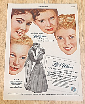 1949 Little Women With Elizabeth Taylor & Janet Leigh