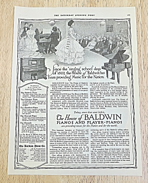 1918 Baldwin Pianos With Man Playing Piano