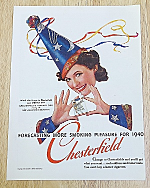 1940 Chesterfield Cigarettes With Donna Dae