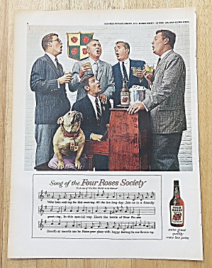 1958 Four Roses Whiskey With Men Singing