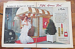 1958 Revlon Fifth Ave Red With Lovely Woman