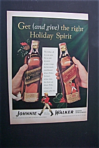 1940 Dual Ad: Johnnie Walker Whiskey & Pullman-standard