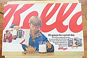 1979 Kellogg's Corn Flakes With Boy Eating