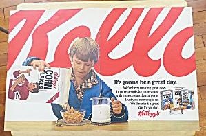 1979 Kellogg's Corn Flakes With Boy Eating (Image1)