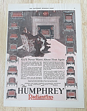 1927 Humphrey Radiantfire With Man By Fire