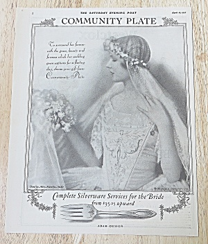 1927 Community Plate With Lovely Bride (Image1)