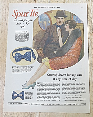 1927 Spur Tie With Man & Woman