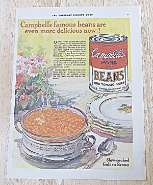 1928 Campbell's Pork & Beans With Beans In Dish (Image1)
